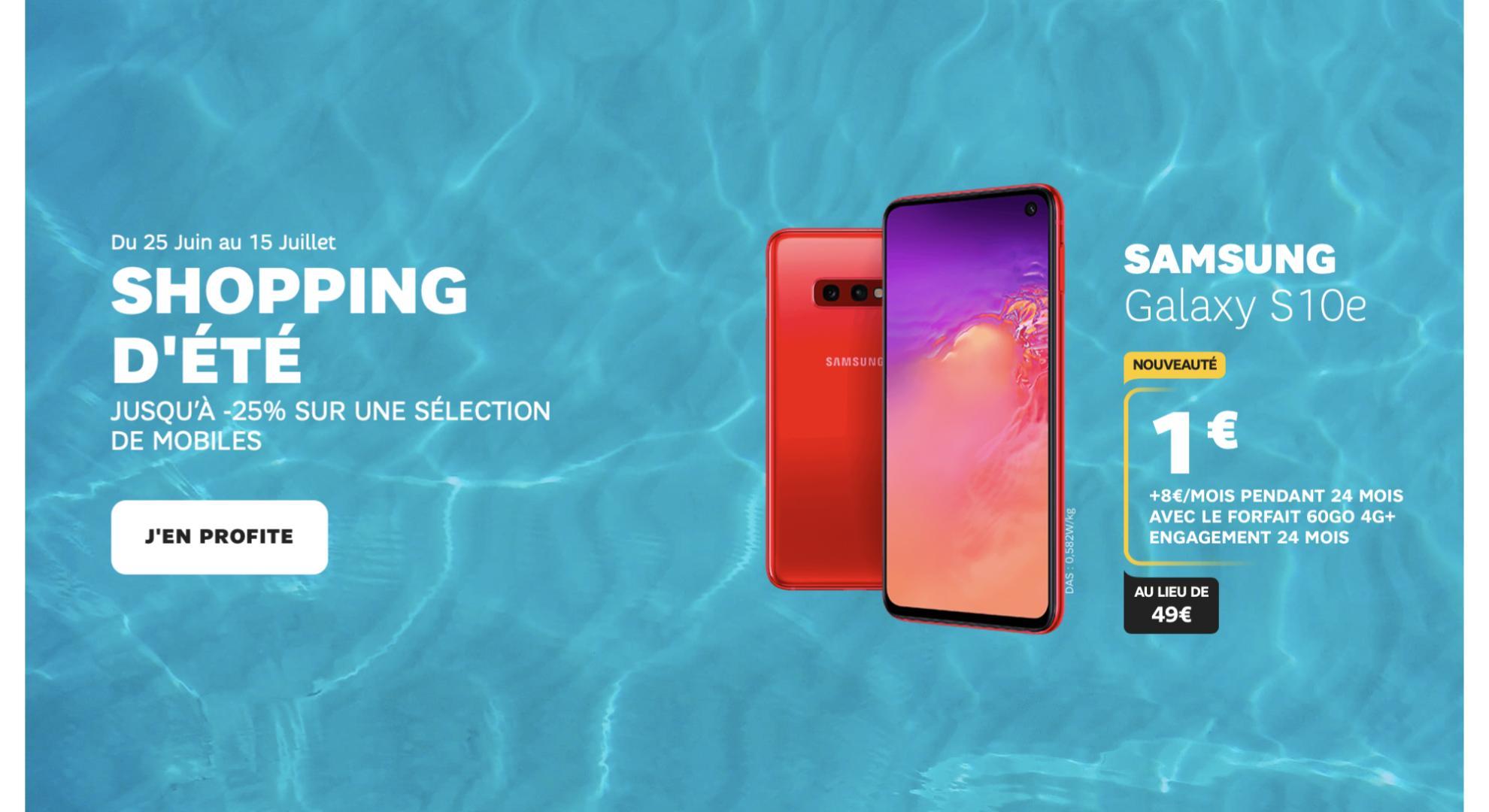 Shopping d'été SFR : on a sélectionné les trois meilleures promotions