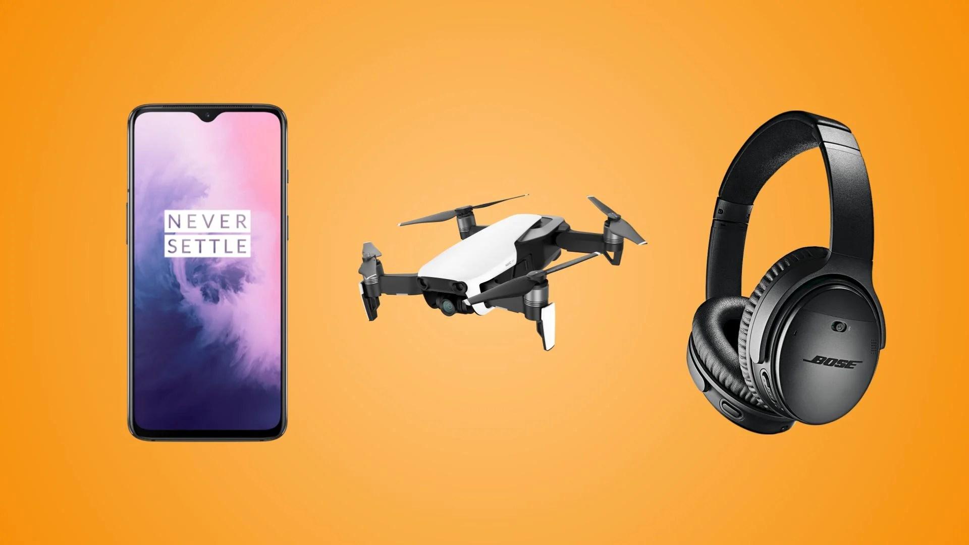OnePlus 7 256 Go à 415 euros, Bose QC 35 II à 235 euros et drone DJI Mavic Air Fly More Combo à 765 euros