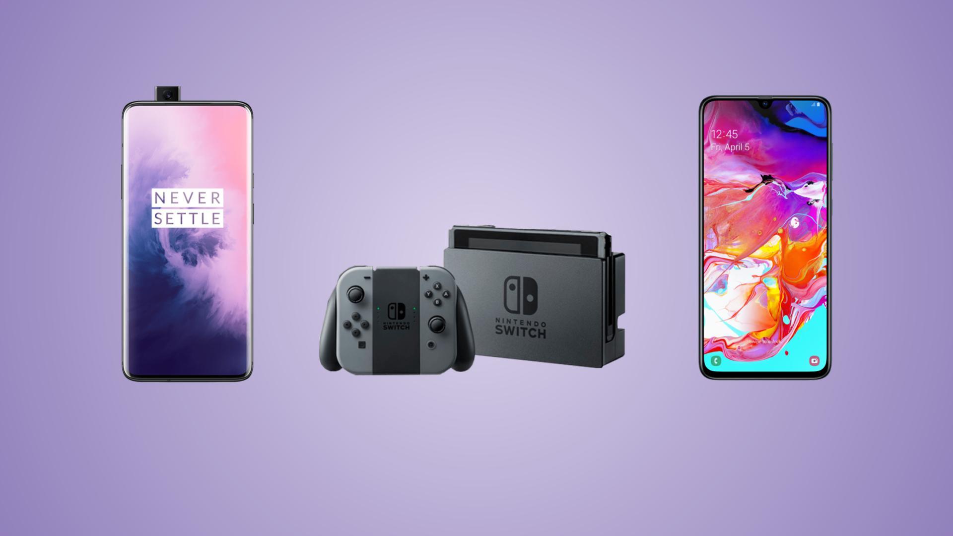 OnePlus 7 Pro 256 Go à 587 euros, Nintendo Switch à 259 euros et Samsung Galaxy A70 à 295 euros