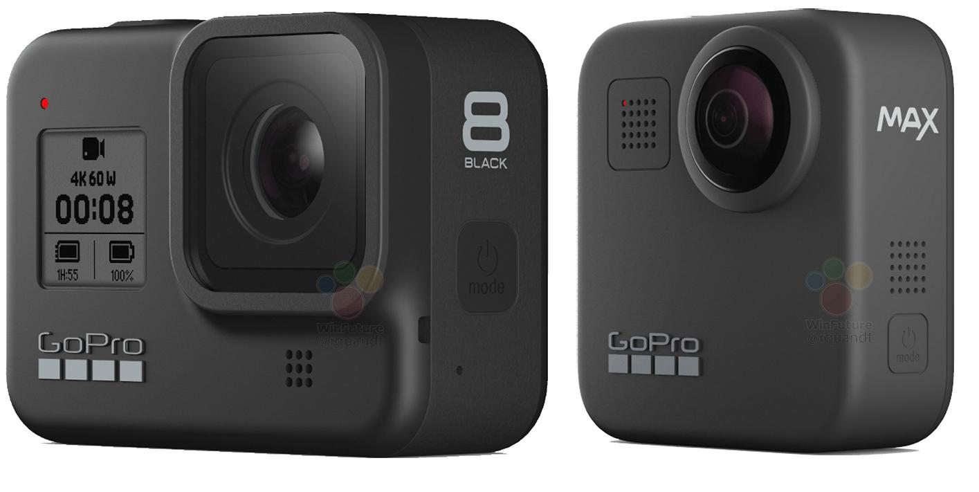 GoPro Hero8 et Max : les action cam se dévoilent via des rendus officiels