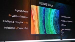 Huawei Vision officialisée : TV 4K Quantum Dot, HarmonyOS et son 5.1