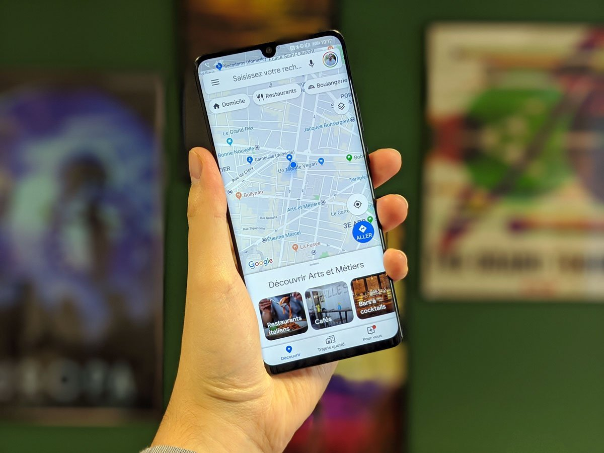 Google Maps revoit son interface pour s'adapter à la navigation par gestes