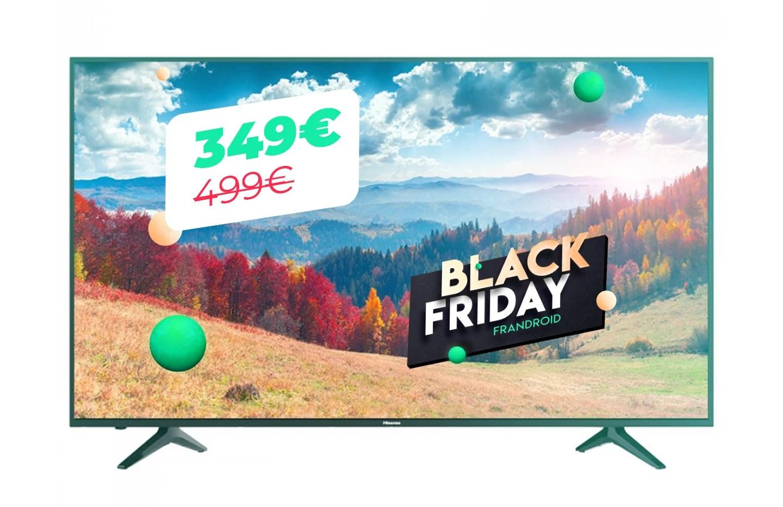 La TV Hisense 58 pouces 4K UHD à seulement 350 euros pour le Black Friday