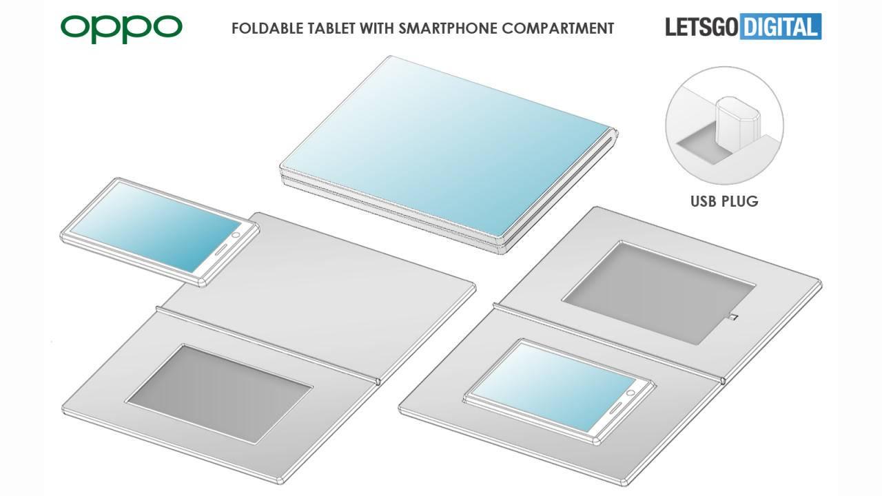 Oppo voudrait utiliser ses smartphones pour animer une tablette pliable