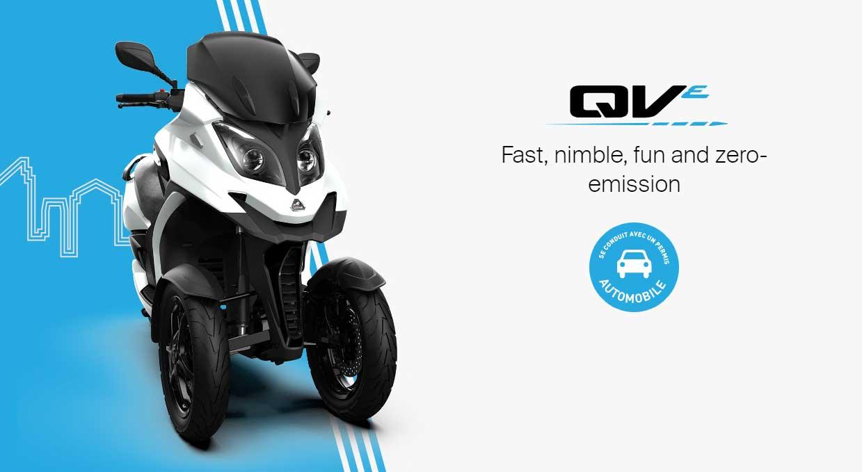 Quadro QVe : ce nouveau scooter électrique à trois roues se frotte à l'eccity Model3