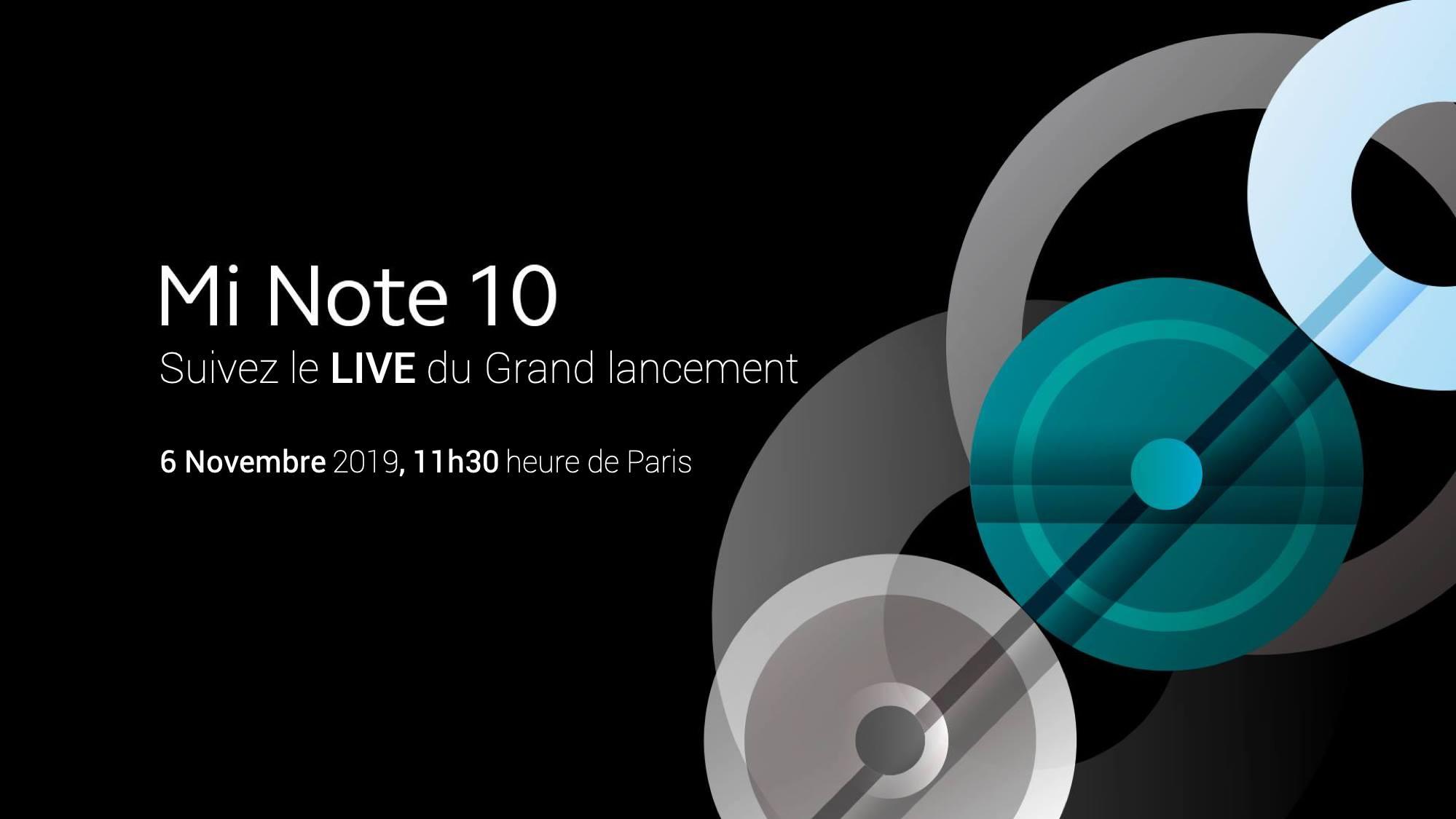 Xiaomi Mi Note 10 : comment suivre la conférence en direct