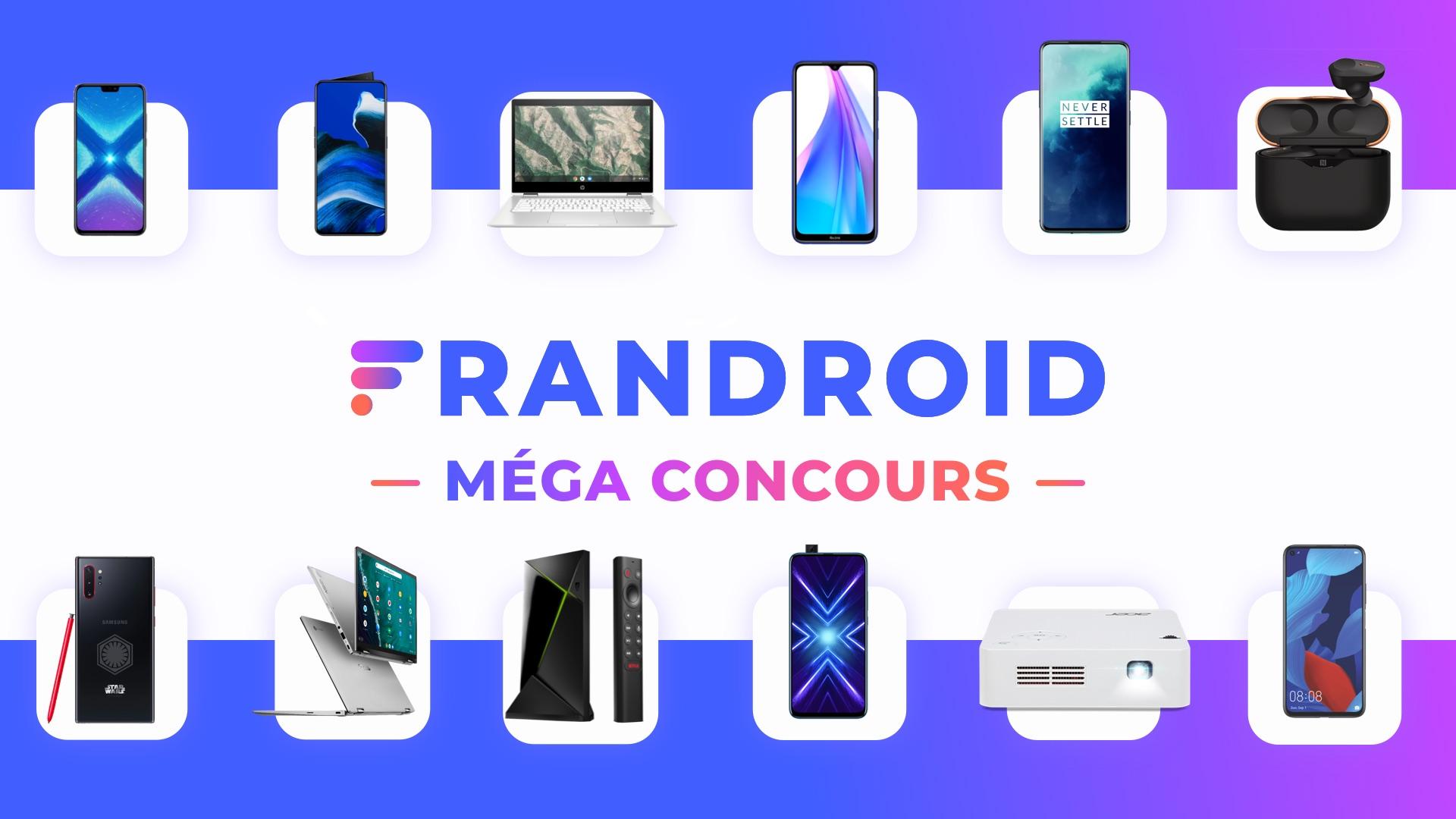Méga concours Frandroid : on vous fait gagner 12 cadeaux tech !