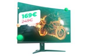 Cet écran de PC 144 Hz incurvé de 24 pouces est à 170 euros pour le Cyber Monday