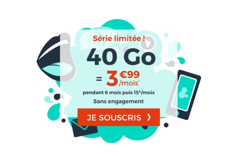 Forfait mobile : 1 euro les 10 Go avec cette offre à 4 euros par mois