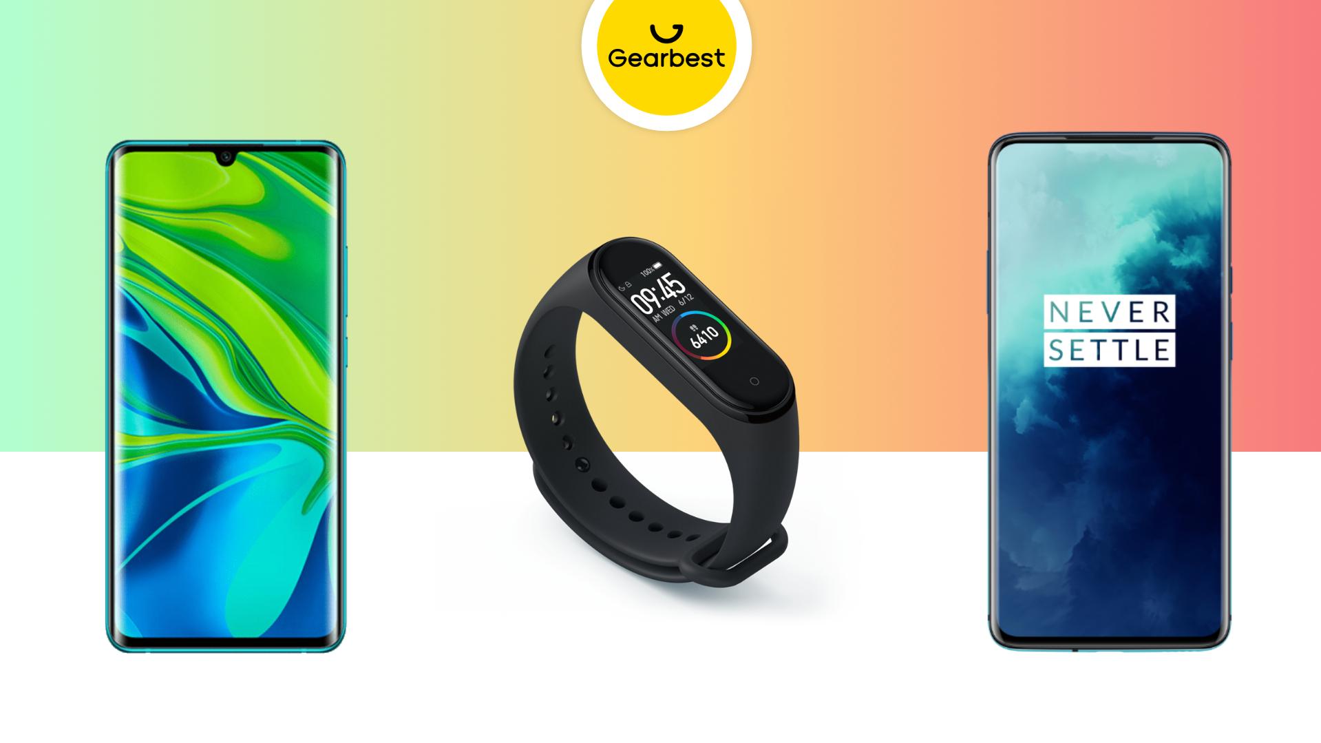 Xiaomi Mi Note 10 à 411 euros, Mi Band 4 à 23 euros et OnePlus 7T Pro à 606 euros