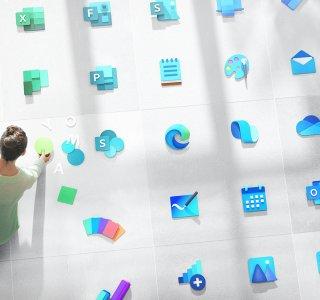 Voici les nouvelles icônes de Microsoft