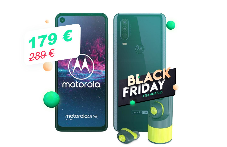 À moins de 180€, le Motorola One Action devient très intéressant pendant ce Black Friday