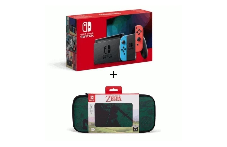 La (nouvelle) Nintendo Switch avec 25 € de remise et une housse Zelda offerte