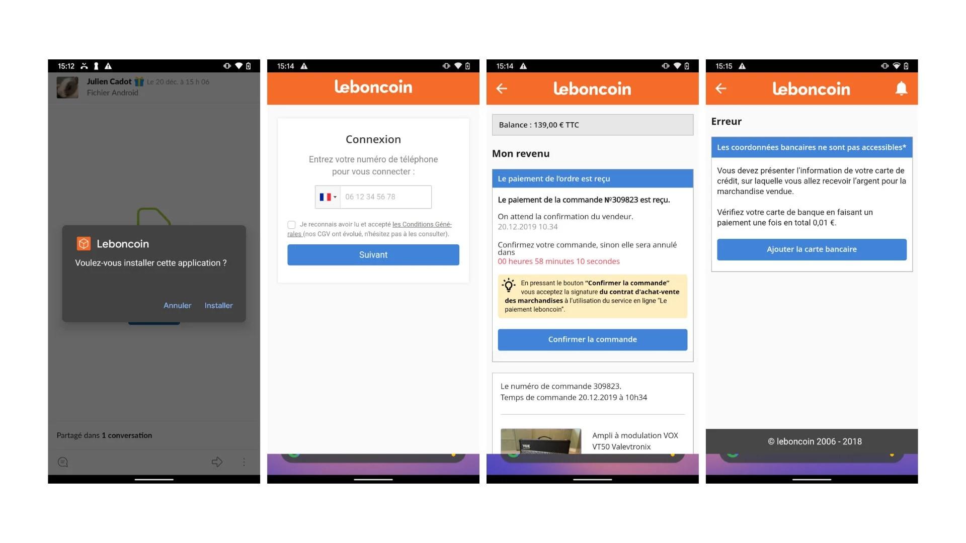 Comment des arnaqueurs vous piègent sur Leboncoin avec une fausse application Android