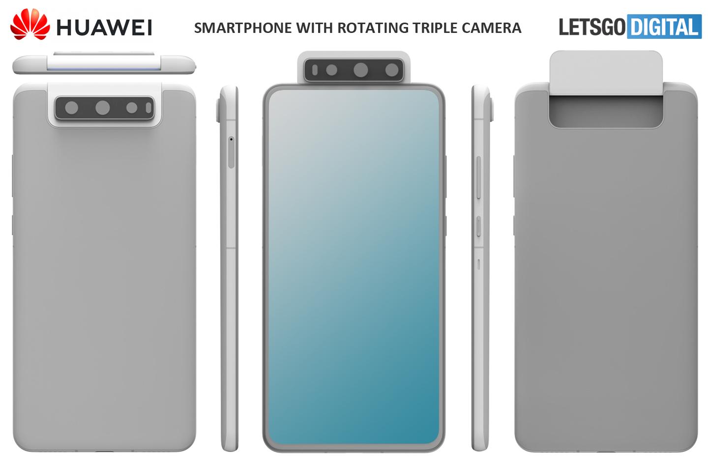 Huawei prépare un smartphone à trois capteurs photos rotatifs
