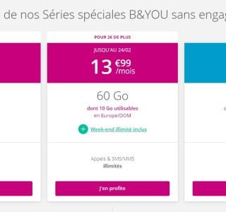 Bouygues renouvelle ses offres B&You sans engagement avec un nouveau forfait mobile
