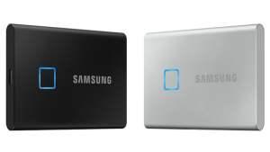 Samsung T7 et T7 Touch : des SSD externes avec des débits impressionnants et de la sécurité par empreintes digitales