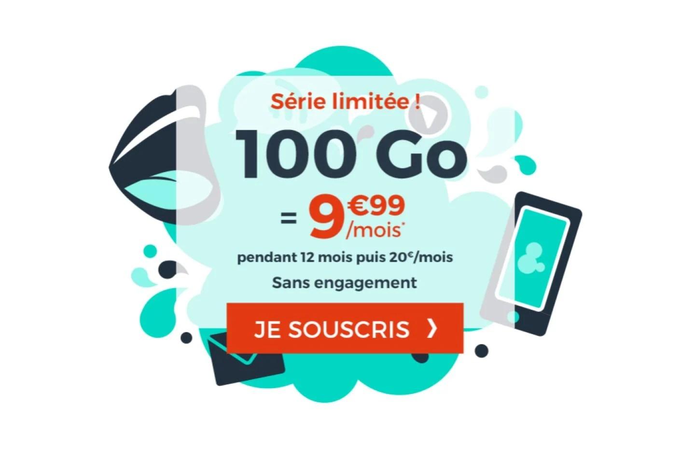 Ce forfait mobile 100 Go à moins de 10 euros est idéal pour une box 4G, ou le streaming