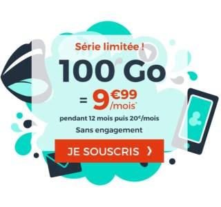 C'est le retour du forfait mobile 100 Go à moins de 10 euros par mois