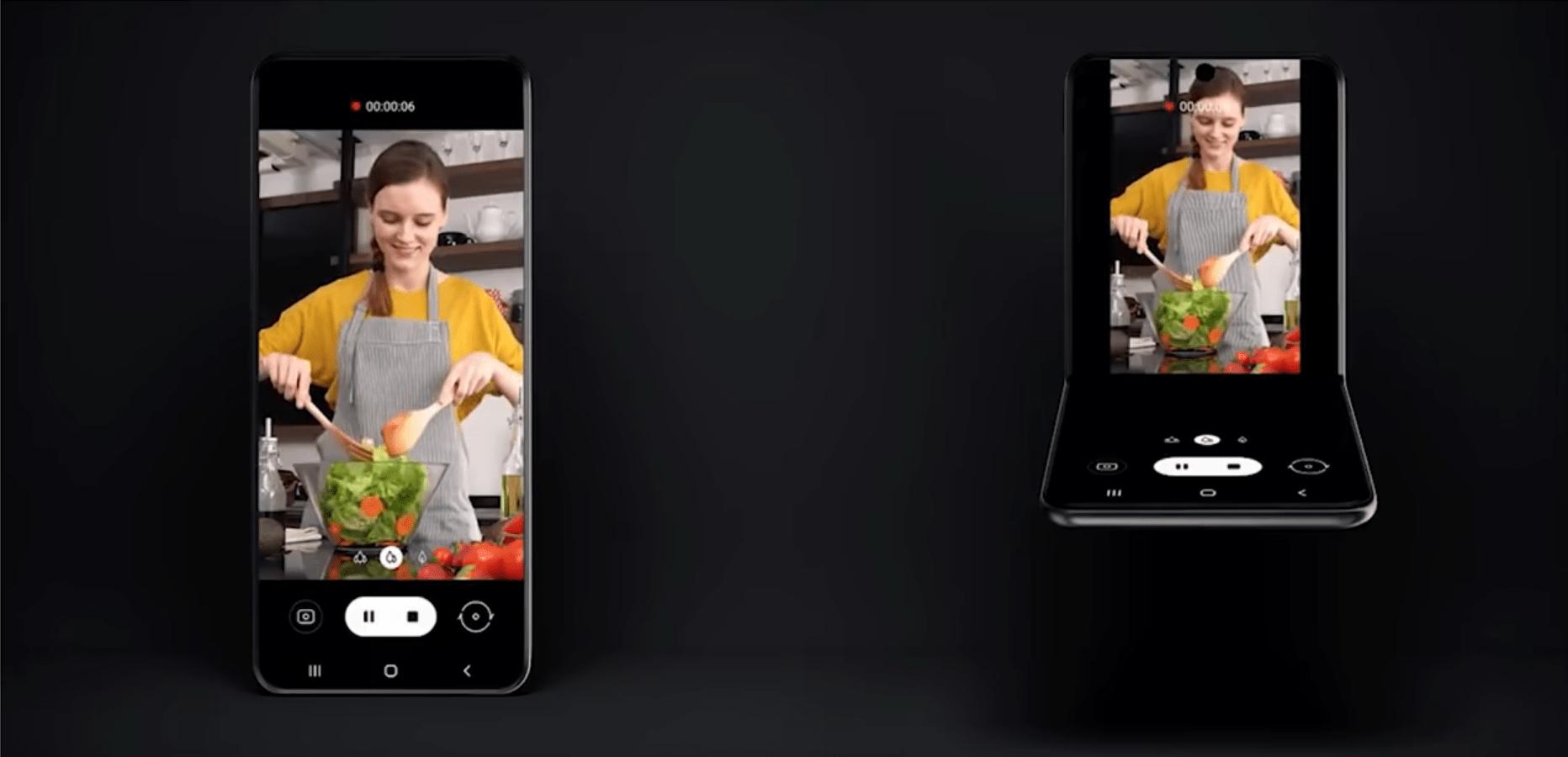 Utiliser le Samsung Galaxy Z Flip sans les mains serait possible pour vos appels vidéo