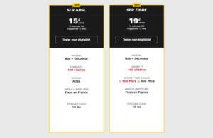 SFR : les offres Starter ADSL/Fibre avec 50 % de remise pendant un an