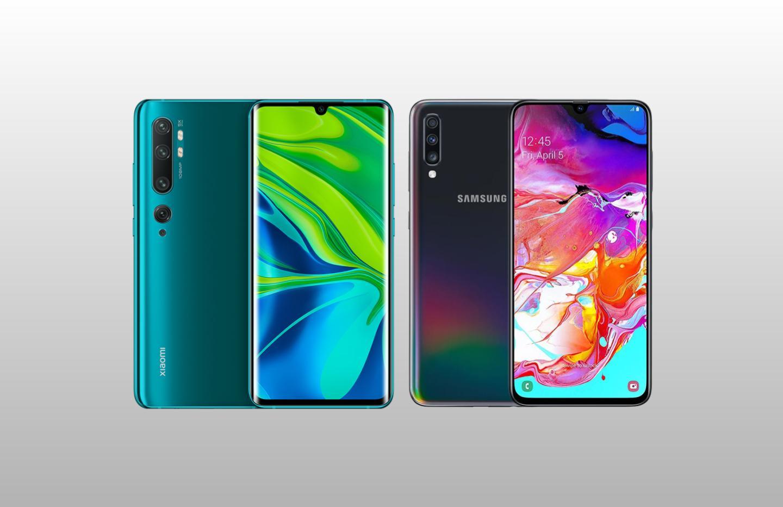 Plus de 130 euros de remise sur les Xiaomi Mi Note 10 et Samsung Galaxy A70 pendant l'Happy Hour de Rakuten