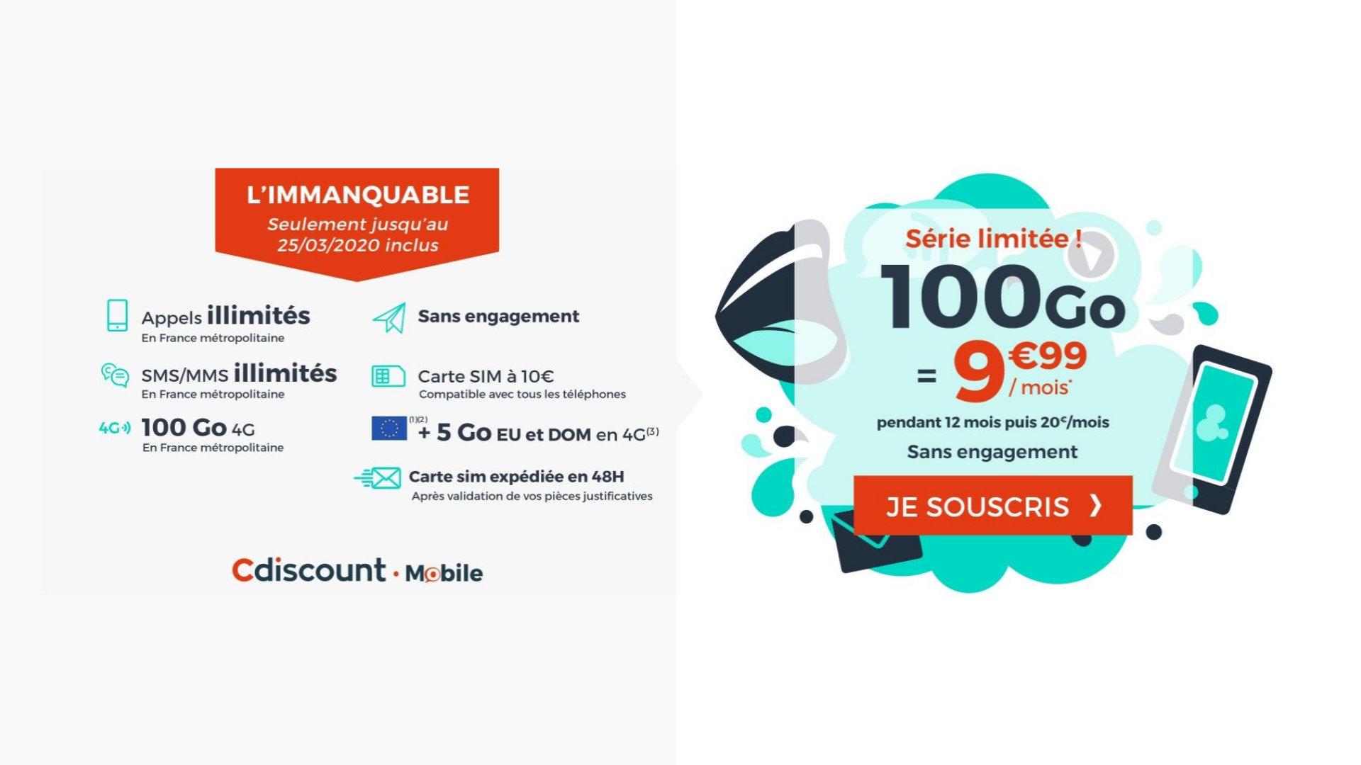 Un forfait mobile 100 Go à 9,99euros pour ne pas tomber en panne sèche dans les prochaines semaines