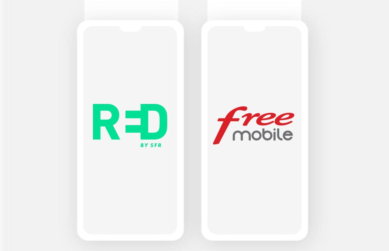 Forfait mobile : RED et Free se battent pour la meilleure offre avec 60 Go de 4G