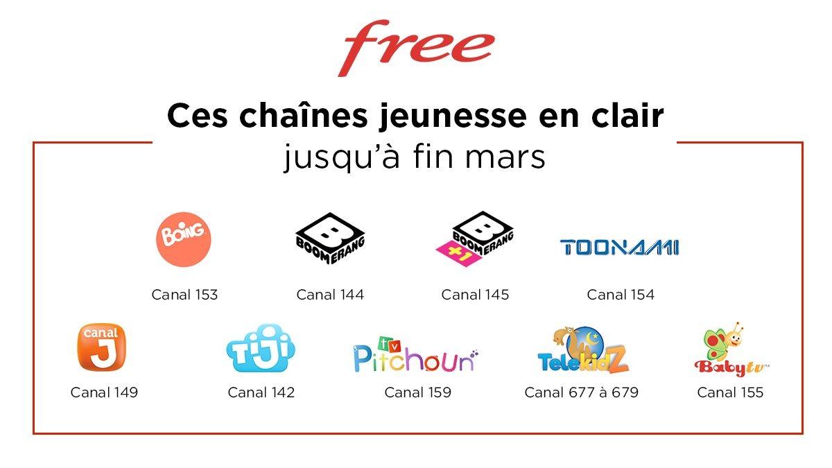 Confinement : au tour de Free de proposer des chaînes gratuites