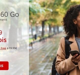 Dernier jour pour le forfait Free mobile 60 Go à 9,99 euros par mois