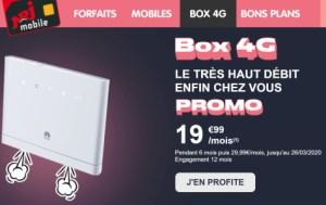 Derniers jours pour profiter des 250 Go via la box 4G à 20 euros par mois