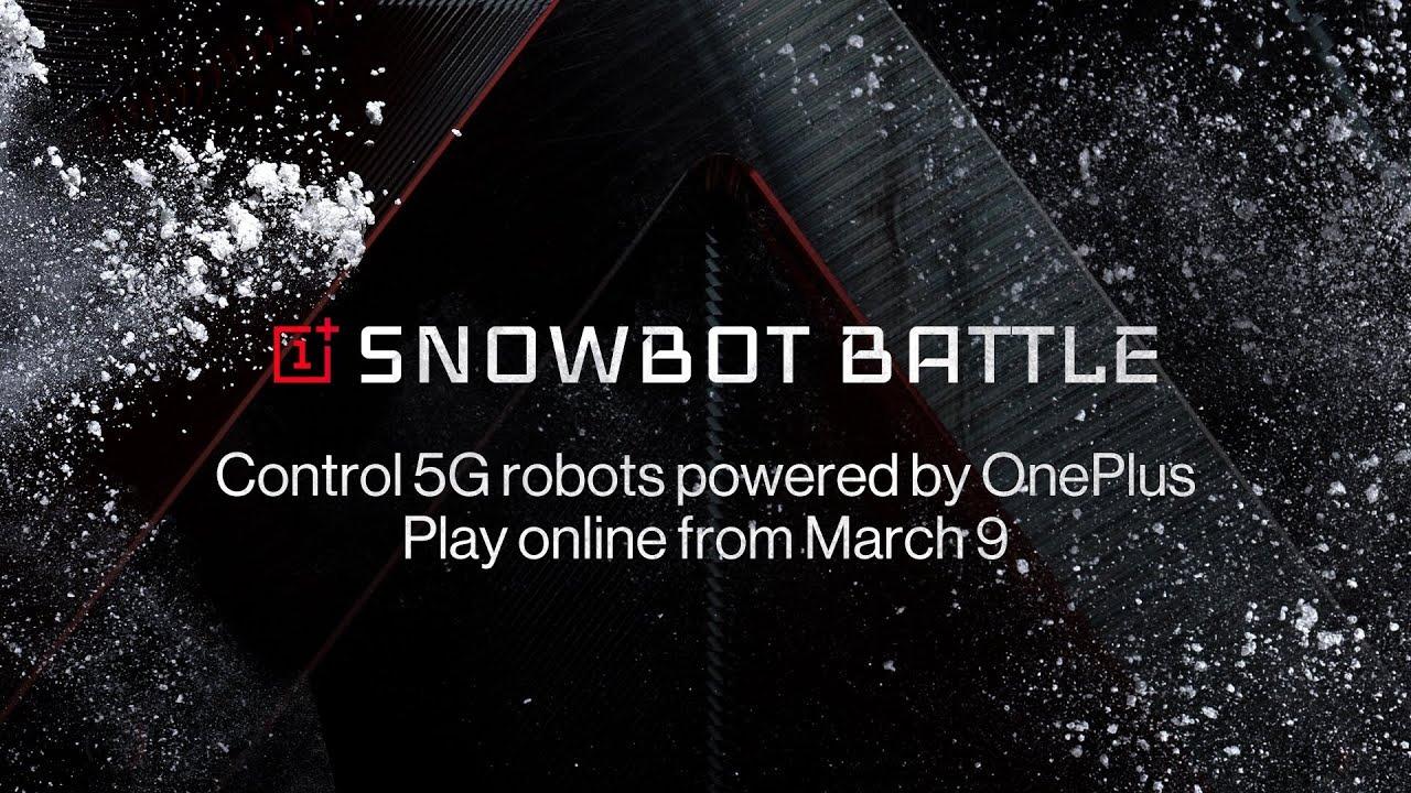 OnePlus : jouer avec des robots 5G qui lancent des boules de neige… eh bien c'est possible
