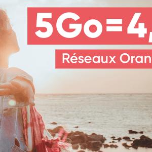 Forfait mobile : dès 4,99 euros/mois pour 5 Go, choisissez entre le réseau Orange ou SFR
