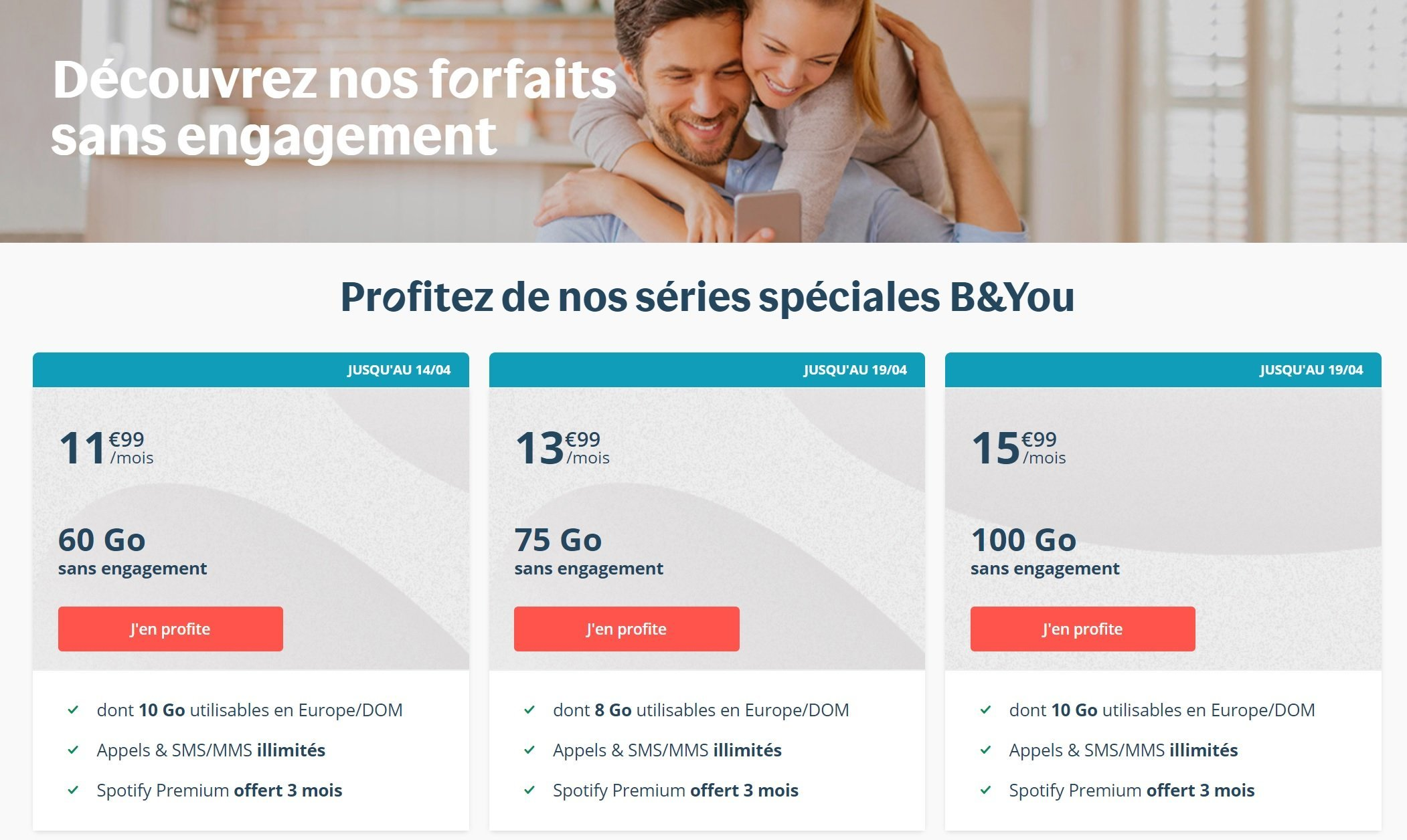 Forfait mobile : Bouygues Telecom propose encore de nouvelles offres B&You
