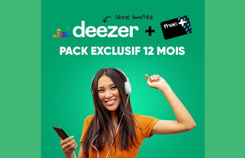 L'abonnement d'un an à Deezer Premium et la carte Fnac+ pour 60 € seulement