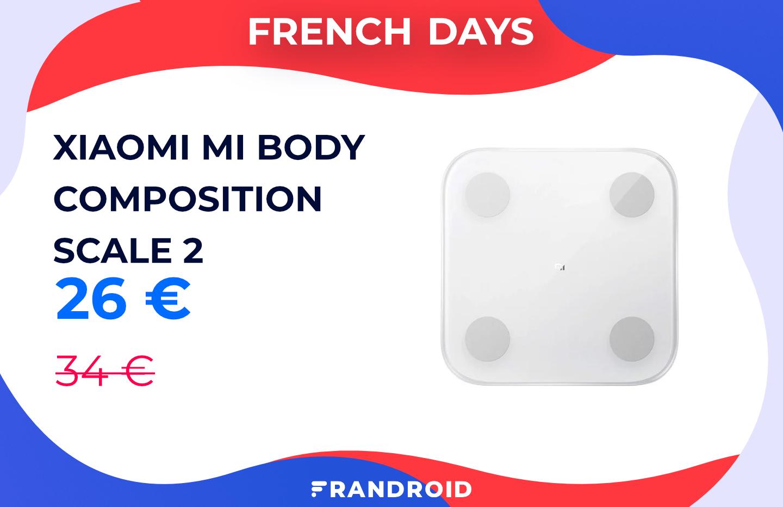 La balance connectée Xiaomi Mi Body Composition Scale 2 est en promotion chez Cdiscount