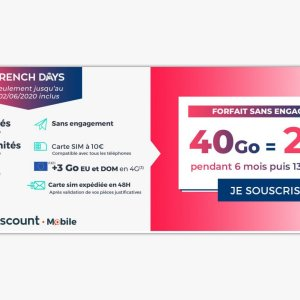French Days : ce forfait mobile 40 Go passe à 2,99 euros/mois seulement