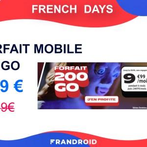 Ce forfait mobile spécial French Days offre 200 Go de 4G pour 9,99 €/mois