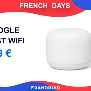 Le routeur Google Nest Wifi est lui aussi en promotion pour les French Days