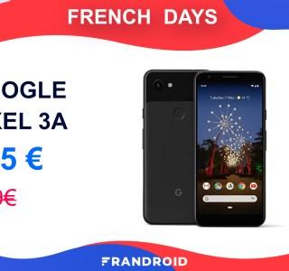 Le Google Pixel 3a ne coûte que 225 euros pendant les French Days