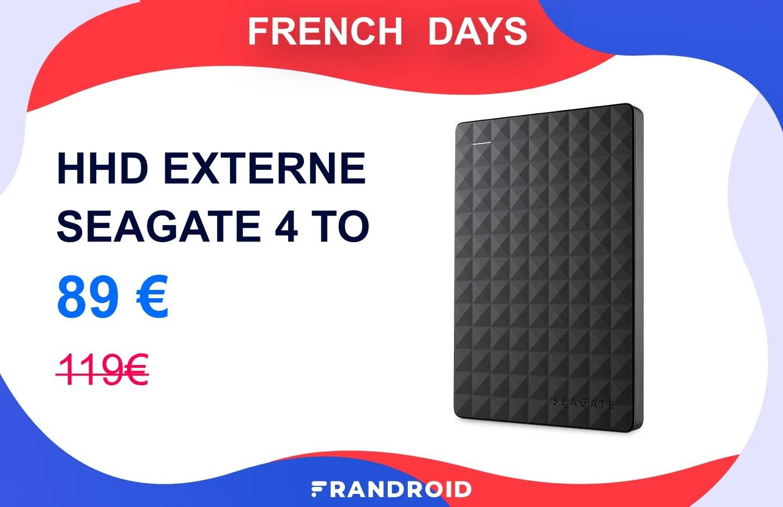 Ce disque dur externe 4 To revient à 22,5 €/To lors des French Days