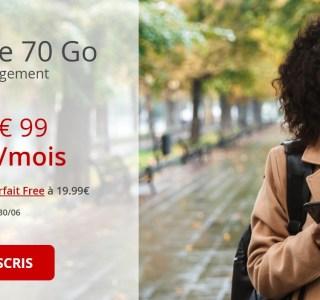 Free : son forfait mobile passe de 50 à 70 Go pour le même prix