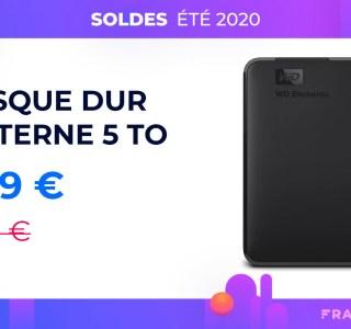 5 To de stockage pour 110 euros avec le disque dur portable WD sur Amazon