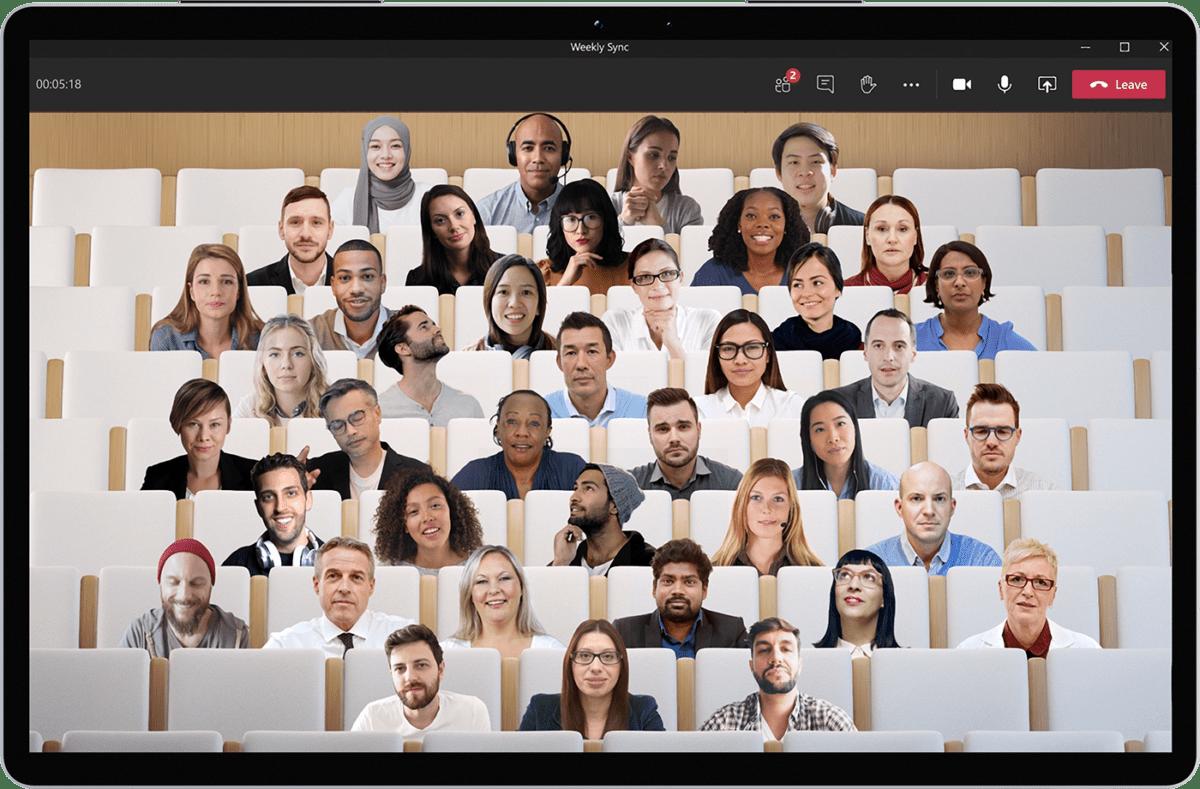 """Microsoft Teams : """"Together Mode"""", la nouvelle fonction pour des réunions plus fun et moins stressantes"""