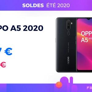 Le très endurant Oppo A5 2020 avec sa batterie de 5 000 mAh est à 137 €