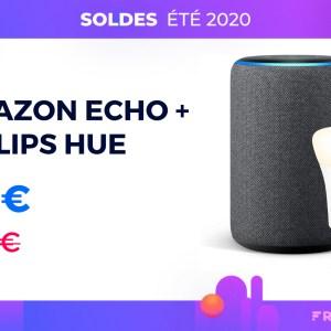 L'Amazon Echo Plus 2 est à 69 € avec une ampoule Philips Hue offerte