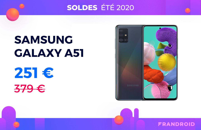 Pendant les soldes, le prix du Samsung Galaxy A51 passe de 379 à 251 €