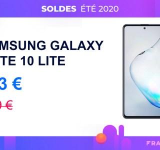 Les soldes à prix cassé avec le Samsung Galaxy Note 10 Lite à 353 €