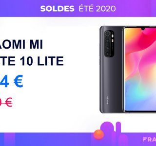 Le très efficace Xiaomi Mi Note 10 Lite avec 135 € de remise pour les soldes