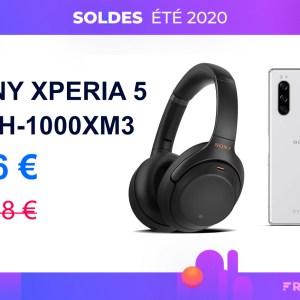 Pour les soldes, le Sony Xperia 5 est moins cher avec un WH-1000XM3 offert